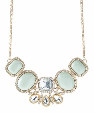 Look what I found on #zulily! Mint & Gold Today Statement Necklace #zulilyfinds