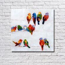 Бесплатная доставка Handpainted картина маслом на холсте птицы искусства современный ручная роспись украшения стены искусство NP003(China (Mainland))