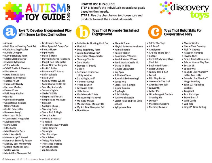 Discovery Toys takes your child's play seriously. Here are toys designed for specific needs to help a child diagnosed with Autism