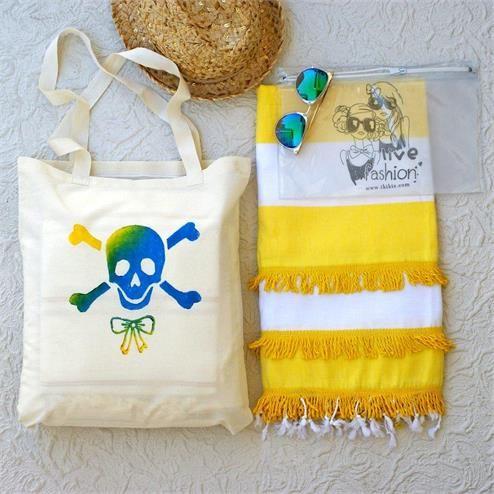 Kuru Kafa Püsküllü Sarı Plaj Seti - Bikini Çantası Şeffaf Kumaş Türü: Plaj Çantası %100 Keten  Peştemal %100 Pamuk Bikini Çantası PVC Paket İçeriği: 1 adet plaj çantası 1 adet peştemal  1 Adet Bikini Çantası