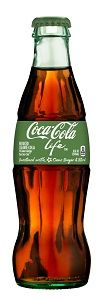 Coca-Cola Life Infuses Cane Sugar with Stevia Leaf Extract.