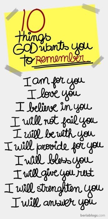 more than sayings: things God wants you to remember:
