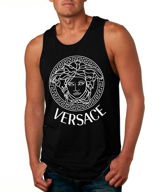 20 Best Images About Men S Tanks On Pinterest: VERSACE Men Tank Top Tee Tshirt Shirt Size S M L XL Screen