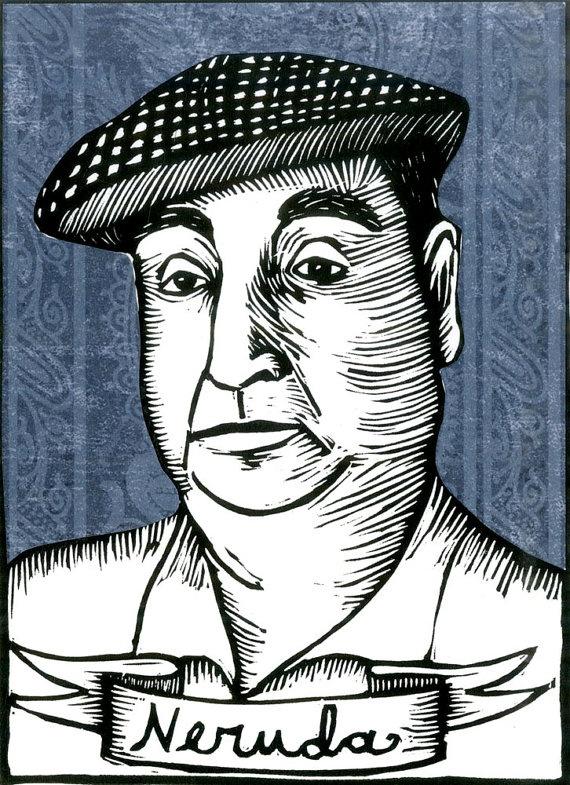 Pablo Neruda Print 5x7 (Etsy)