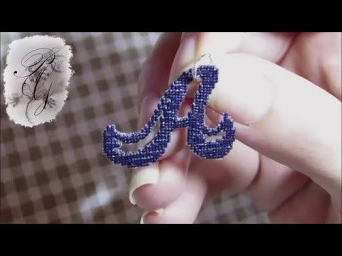 """Double sided stitch, """"A"""" medal with PAG embroidery technique - YouTube"""