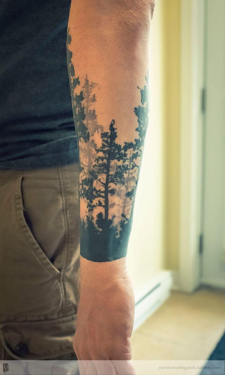 tree tattoo forest by RemiisMeltingDots on DeviantArt