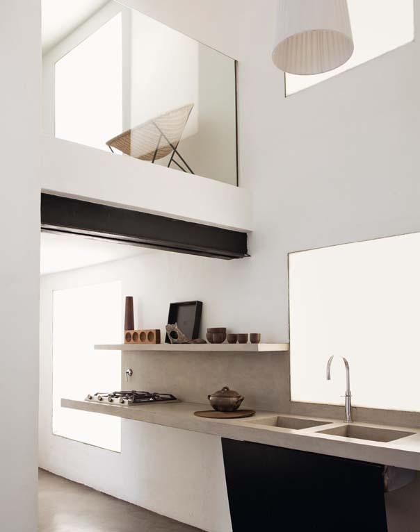 Double height modern kitchen