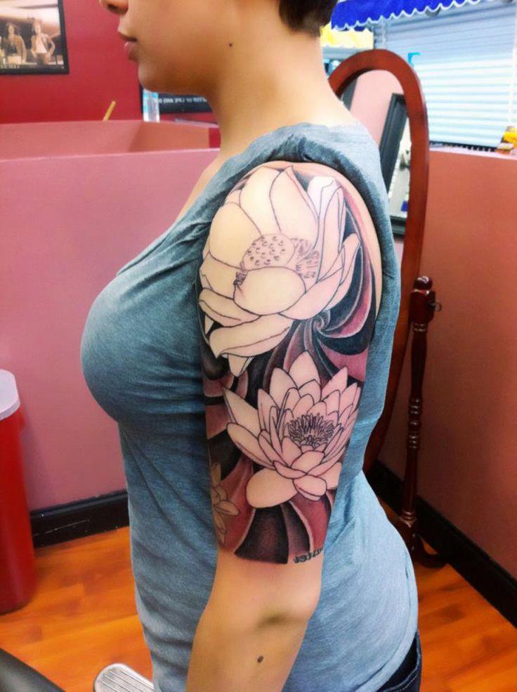 Half Sleeve Tattoo Design Ideas For Women - http://tattooideastrend.com/half-sleeve-tattoo-design-ideas-for-women/ - #Design, #Tattoo, #Women