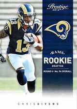 Chris Givens Rams 2012 Prestige RC Rookie #283