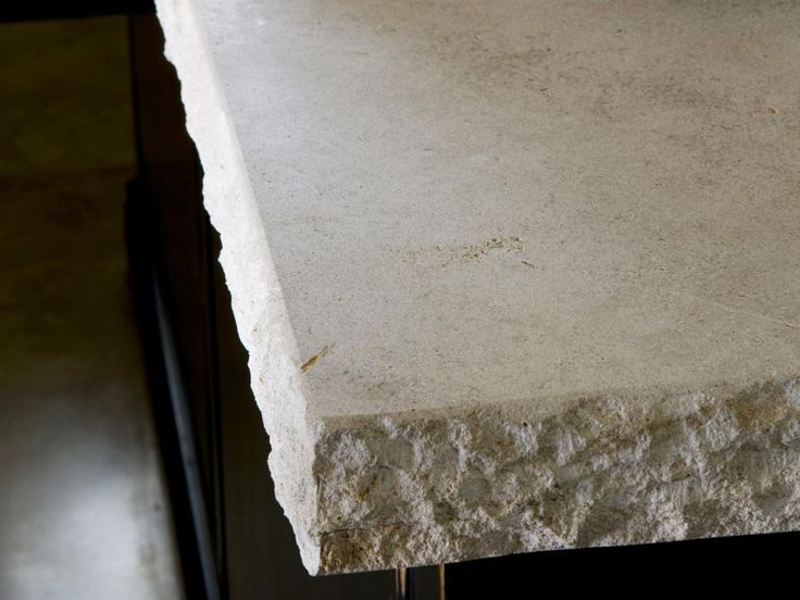 Elegant Limestone Countertops Favored by avid bakers, limestone countertops lend sophistication. Some surfaces contain fragments of fossils and shells. Photo courtesy of Walker Zanger