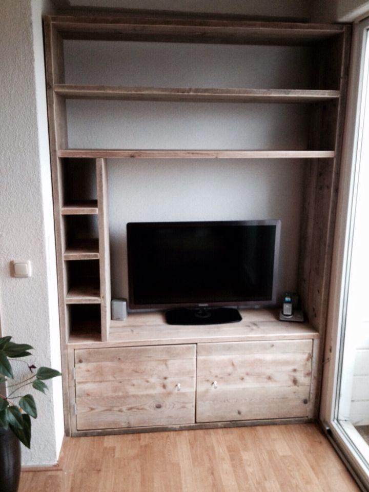 Tv meubel op maat van steigerhout