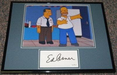 Autographed Garbisch Photo - Ed Asner The Simpsons Framed 11x14 Display JSA - Autographed College Ph @ niftywarehouse.com #NiftyWarehouse #TV #Shows #TheSimpsons #Simpsons
