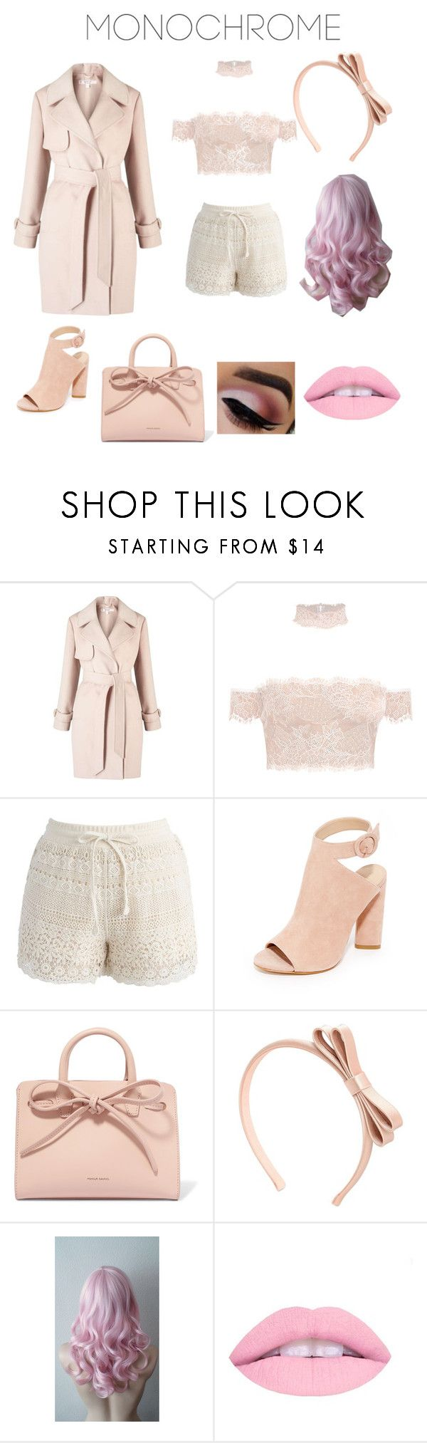 """""""Pink All Over"""" by musicaltheater ❤ liked on Polyvore featuring Miss Selfridge, Chicwish, Kendall + Kylie, Mansur Gavriel and RED Valentino"""