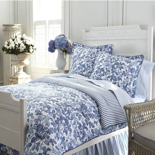 Ralph Lauren Blue & White Adeline bedding....Have the comforter, just need the accessories to go with it :)