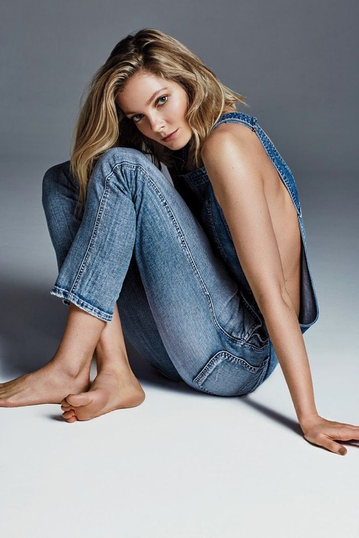 Eniko Mihalik Rocks Sexy Denim Looks for Harper's Bazaar Brazil