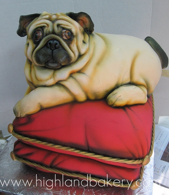 I know a pug lover who would adore this cake by Karen Portaleo/Highland Bakery