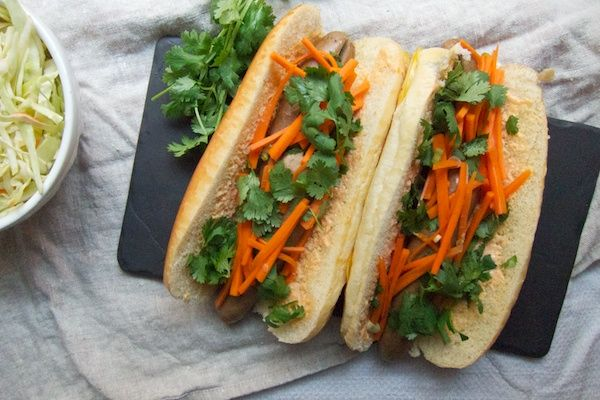 There are logical reasons on both sides of the fusion equation for why a Banh Mi Hot Dog should taste good. On the Vietnamese side, the fact that a pork hot dog reflects the array of pork products, from pâté to meatballs to slow-cooked pork, traditionally used in a banh mi. On the American side, the fact that a Chicago dog, for one, sports an almost salad-like array of vegetable toppings, some of them pickled tangy sweet, just like a banh mi's vegetable filling.
