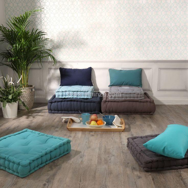 Coussin de sol (45 cm) Nora Celadon : choisissez parmi tous nos produits Coussin de sol et pouf