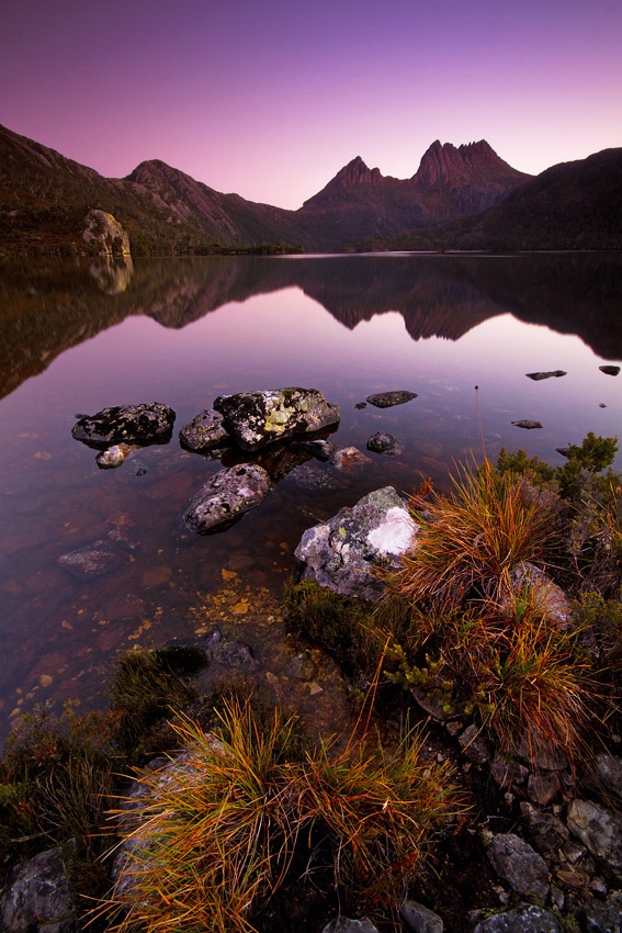 Cradle Mountain National Park, Tasmania, Australia. Had the best snow fight on the shores of this lake. The sky was blue and not a cloud to be seen. Bitterly cold but we did not care. There was something so magical about this place. Loved it here.