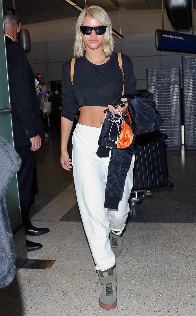 Sophia Richie steps out in L.A. donning chic square shades.