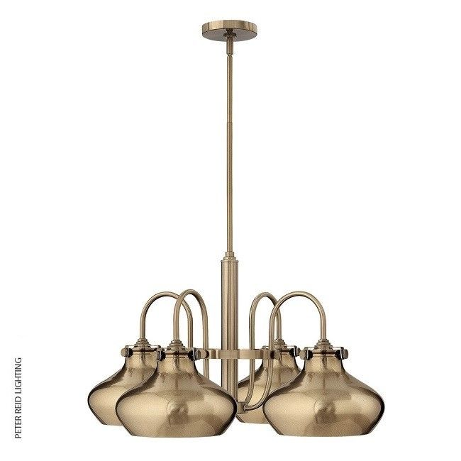 Congress Metal Shade Chandelier C Brushed Caramel, by the USA's Hinkley Lighting