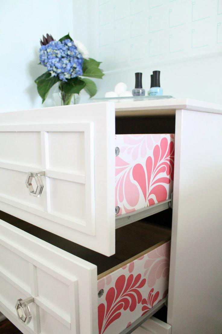 Simple Unfinished Dresser Upgrade Using Moulding