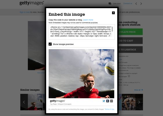 The world's largest photo service just made its pictures free to use Getty Images is betting its business on embeddable photos