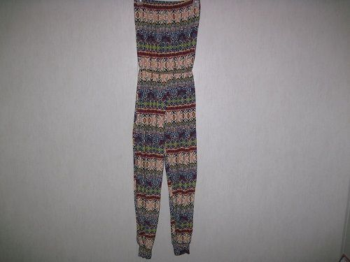Say What Womens Jumpsuit Romper Size Medium M Juniors Boho Sleeveless Soft #SayWhat #Jumpsuit
