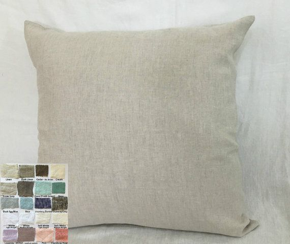 Add a dash of minimalist elegance to your bedroom décor with a crisp linen Euro sham. Easily machine washable and soft to touch. Envelope closure on the back for easy tuck in or to remove for cleaning. See 40 + color choices and patterns: https://www.etsy.com/listing/236263008/linen-fabric-swatch-linen-swatch-fully  Coordinating duvet cover, shams, bed skirt, curtains available. ❤❤❤❤❤❤❤See customers review❤❤❤❤❤❤❤❤ Great pillowcase! Soft and wrinkly, just how I like it...