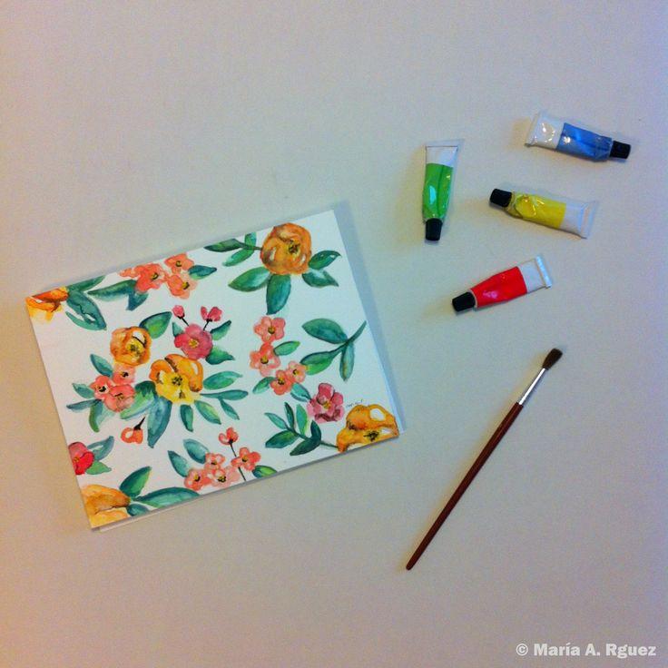 #Spring   #DiseñoDeEstampados #Acuarela #Dibujo #Flores #Primavera
