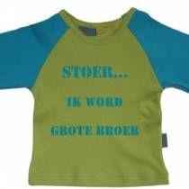 Stoer... ik word grote broer - Baby en kinderkleding bedrukt met eigen tekst