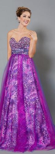 Unique Long Hot Prom Dresses Formal Evening Dance Flower Purple Print Ball Gown | eBay
