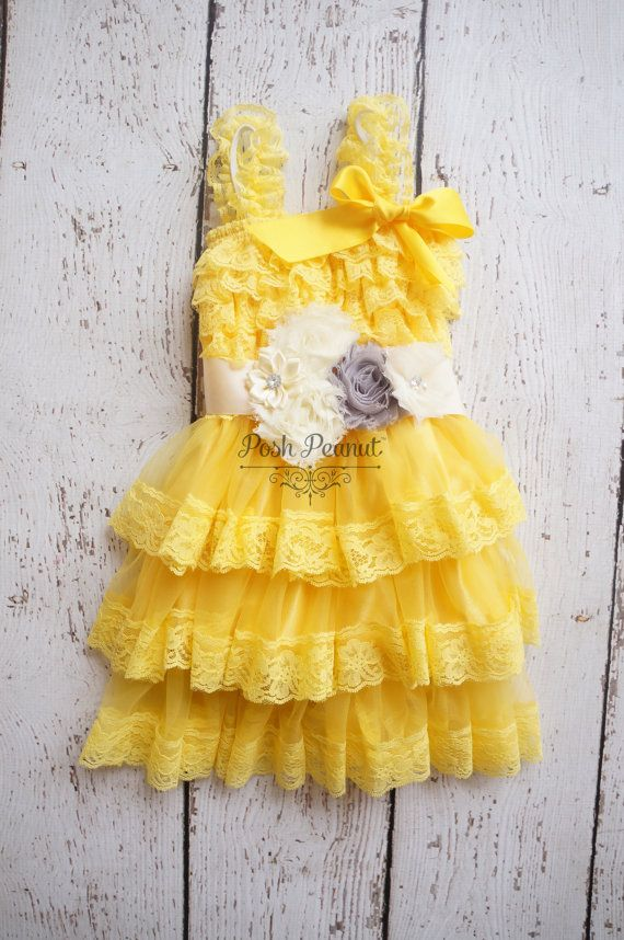 Flower Girl Dress Lace Flower girl dress Baby by PoshPeanutKids