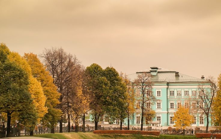 Cloudy  autumn in Moscow