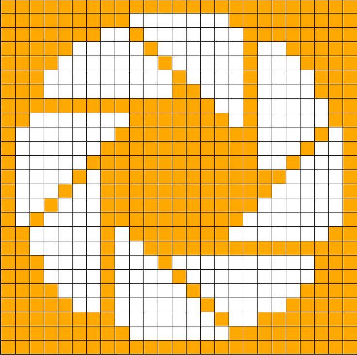 Portal Aperture knit chart