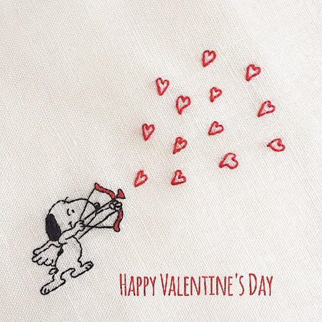 #snoopy #peanuts #Schulz #valentine #embroidery #handembroidery #valentineday #my_favorite_peanuts #スヌーピー #ピーナッツ #バレンタイン #バレンタインデー #刺繍