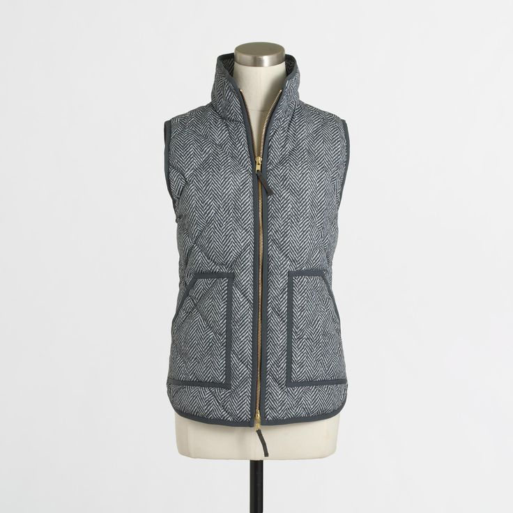 Factory printed quilted puffer vest : The Puffer Vest Shop | J.Crew Factory