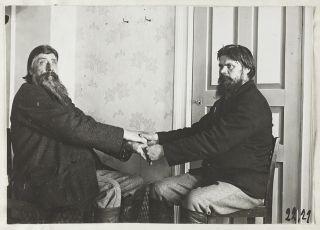 runonlaulajat Iivana Onoila ja Konstantin Kuokka, kuva Samuli Paulaharju