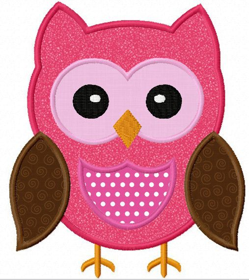 instant download owl applique machine embroidery design no. Black Bedroom Furniture Sets. Home Design Ideas