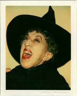 Margaret Hamilton as wicked witch of the west (east, north?) by Andy Warhol