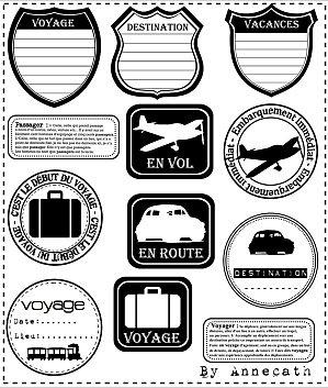 étiquette voyage
