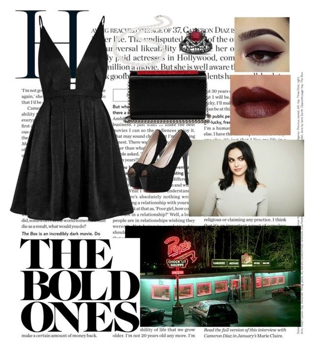 """""""Veronica lodge"""" by raneliperera on Polyvore featuring WithChic, Nadri, Free People and Christian Louboutin"""