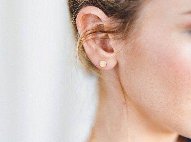 etsy, tiny studs, earrings, elegant, gold, elegante kleine oorbellen