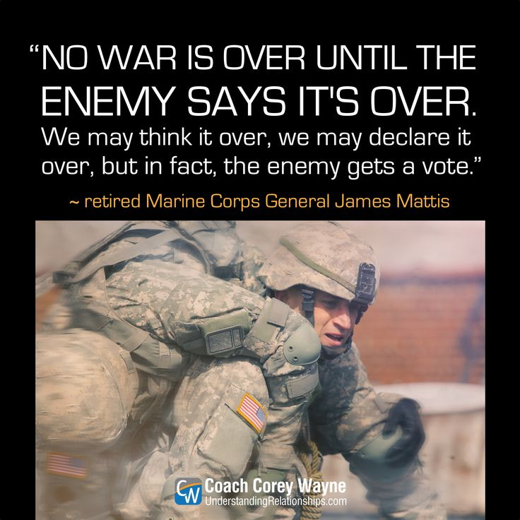"#jamesmattis #usmarinecorps #general #maddogmattis #american #secretaryofdefense #war #military #freedom #defense #strategy #coachcoreywayne #greatquotes Photo by iStock.com/Bluberries ""No war is over until the enemy says it's over. We may think it over, we may declare it over, but in fact, the enemy gets a vote."" ~ James Mattis"
