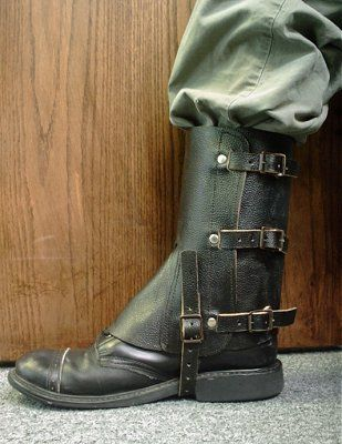 how to make leather gaiters