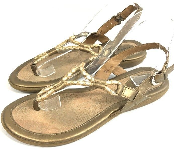 Boc Born Concept Womens Sandals Gold Bronze Braided Sz 8 M