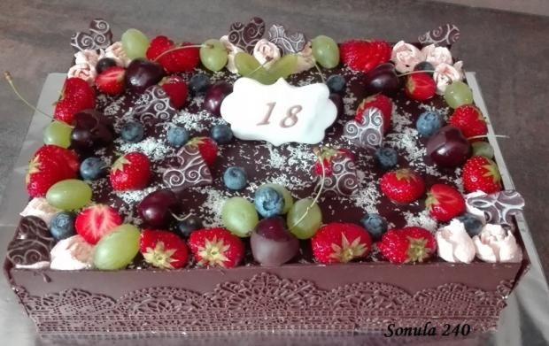 čokoládová s ovocím, čokoládové torty torty | Tortyodmamy.sk