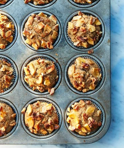 Kamut-Banana Walnut Muffins | If you're looking for a new twist on the classic banana muffin, this one's for you. Kamut flour is made from the kamut grain, which has a buttery flavor, is easy to digest, and is high in protein and fiber.