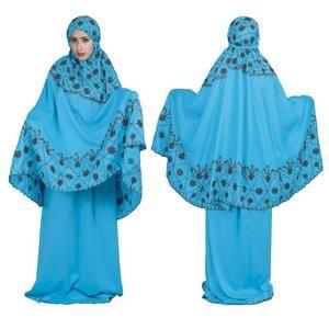 Mukena Raindoz RAO 051 Biru Wanita - Muslimah Cewek Katun