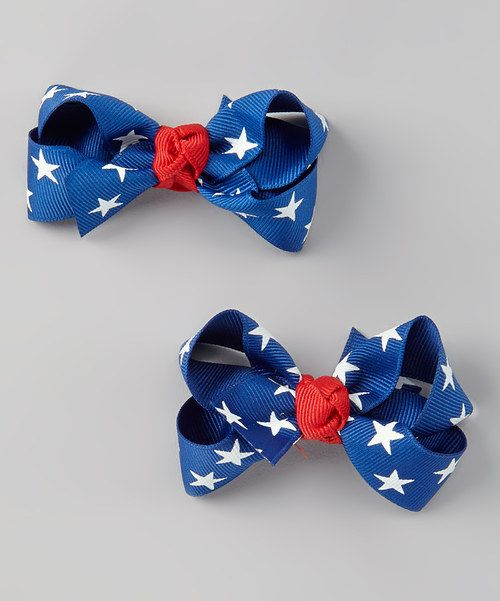 Look at this tiny bundles Blue Star Hiar Clip Set on #zulily today!